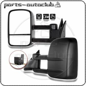 1988 98 Chevy Gmc C K 1500 2500 3500 Truck Manual Towing Side Mirrors Pair Set