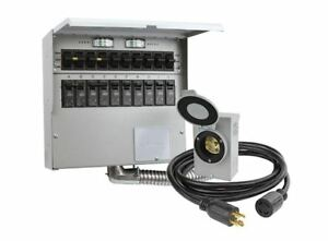 Manual Transfer Switch Kit 10 Circuit 30 Amp Reliance Trans Power Outage