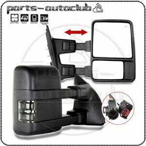 Power Heated 1999 2002 Ford F 250 Super Duty Towing Mirrors Pair Set Side Mirror