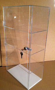 Acrylic Counter Top Display Case 12 X 7 X 22 5 Locking different Shelf Spacing
