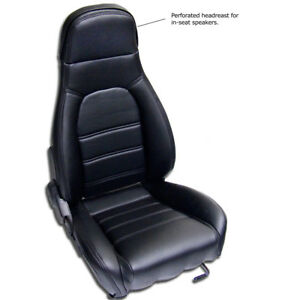 Mazda Miata Pair Of Front Seat Kit Covers For 1990 1996 Standard Seats Black
