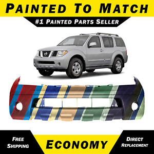 New Painted To Match Front Bumper Cover For 2005 2006 2007 Nissan Pathfinder