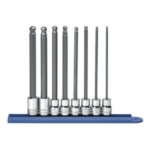 Gearwrench 80573 8 Piece 3 8 Drive Metric Long Ball Hex Bit Socket Set