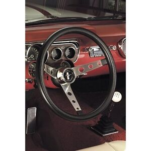 Grant 968 Classic Nostalgia Series Mustang Steering Wheel 15 Black Foam Grip