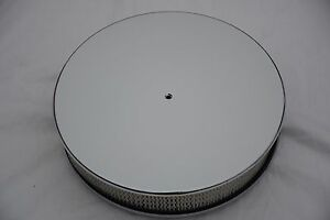 Chrome Aluminum 14 X 3 Smooth Round Air Cleaner Ford Chevy Mopar Bbc Sbc Gm