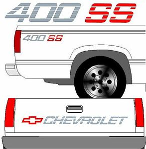Chevrolet Ss Tailgate Truck Lettering 2 400 Ss Vehicle Vinyl Decal Set