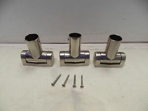 Lot Of 3 Plumbing Accessories Rail Mounts Brushed Nickel