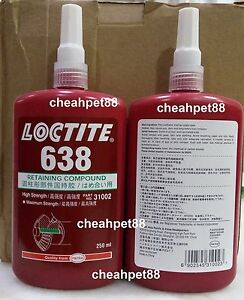 Loctite 638 Retaining Compound 250ml Free Shipping Usa