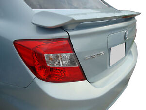 2012 Honda Civic Sedan 4 Door Rear Spoiler Unpainted Wing Primed Factory Style
