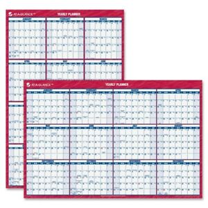 At a glance Erasable reversible Yearly Wall Planner Pm26 28