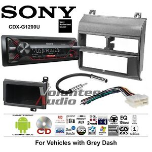 Sony Cd Player Gray Gm Truck Car Stereo Radio Install Package Harness Antenna