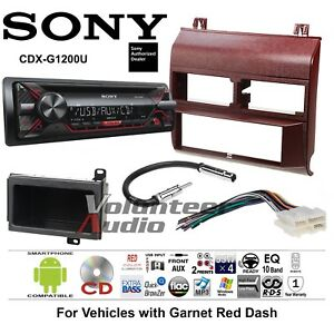 Sony Cd Player Red Gm Truck Car Stereo Replacement Package Harness Antenna