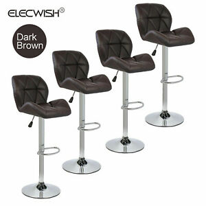 High Back Office Chair Ribbed Upholstered Pu Leather Executive Desk Black Modern