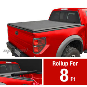 Premium Roll Up Tonneau Cover For 2002 2018 Dodge Ram 8ft Bed