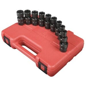 Sunex Tools 3657 10 Piece 3 8 Drive Metric Universal Imp Socket Set