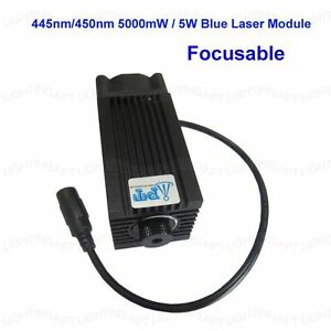 445nm 450nm 5000mw 5w Blue Laser Module For Diy Cnc Cutter Engraving Engraver