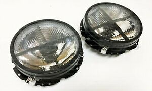 Vw Golf Mk1 Smoked Headlights Jetta Rabbit Caddy Euro Hella Dark
