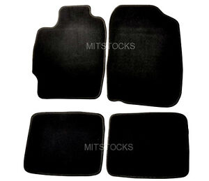 Fit For 04 10 Scion Tc Black Nylon Carpet Floor Mats 4 Pieces
