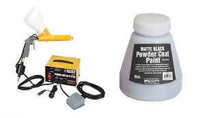 10 30 Psi 120 Volt Powder Coating System Home Shop Free Black Paint New