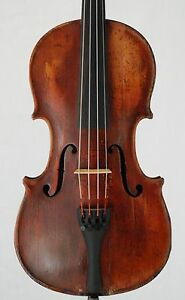 Nice Very Old Antique 4 4 French Restored Violin Labeled Strad Copy