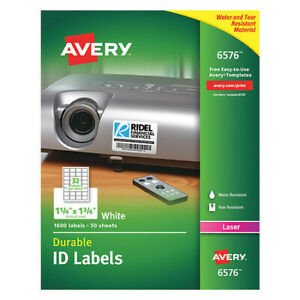 Avery 727826576 Avery White Permanent Durable Id Labels For Laser Printers