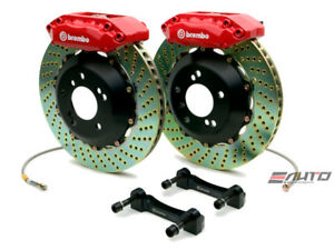 Brembo Front Gt Brake 4 Pot Red 328x28 Drill Cl 01 03 Tl 99 03 Accord V6 98 02