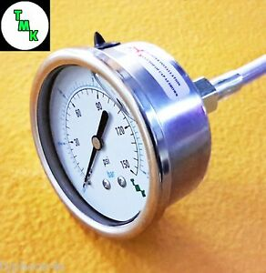 Pressure Gauge For Oil Fuel Air 150 Psi 10 Bar 1 8 Npt Thread 63mm 2 5 Dia Face