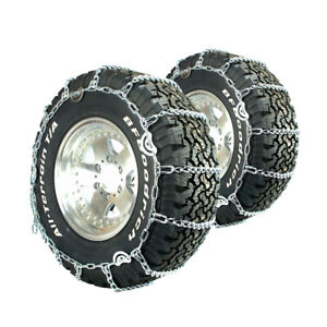 Titan Truck Link Tire Chains Cam Type On Road Snow Ice 5 5mm 265 75 17