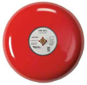 Fire Bell red 10 In 20 To 24v