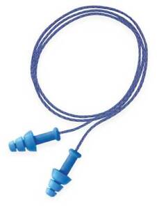 Corded Ear Plugs 25db Rated Reusable Flanged Shape Pk 100