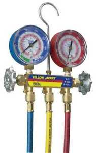 Yellow Jacket 42004 Mechanical Manifold Gauge Set 2 valve