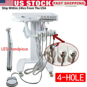 Portable Mobile Dental Delivery Cart Dental Turbine Unit Treatment Led Handpiece
