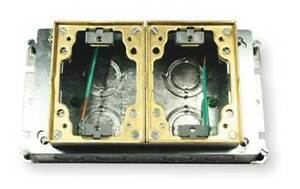 Floor Box steel And Brass 2 gang Hubbell Wiring Device kellems B2422