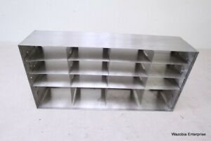 Stainless Steel Laboratory Cryo Storage Freezer Rack Cryogenic 22 x5 5 x10 75