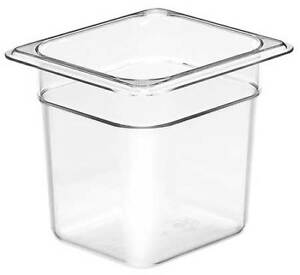 Food Pan Sixth Size Clear pk6 Cambro Ca66cw135