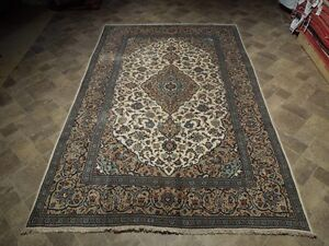 7 X 10 20 30 Years Old Persian Kashan Historic Classic Rug Hand Knotted