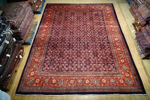 Herati Bakhshaish Weavers Delicate Rug Hand Knotted 10 X 14 All Over Persian