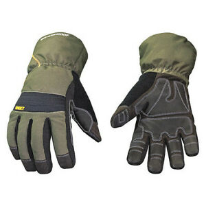 Youngstown Glove Co 11 3460 60 s Cold Protection Gloves small gry grn pr
