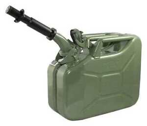 Wavian 2238 10 10l 2 64 Gal Green Cold Rolled Steel Gas Can