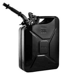 Wavian 2238c Gas Can 5 Gal black include Spout