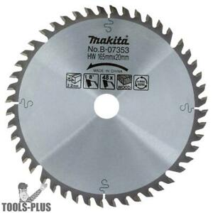 6 1 2 48 Tooth Circular Saw Blade For Sp6000 Plunge Saws By Makita B 07353 New