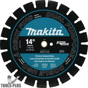 14 Segmented Dual Purpose Diamond Blade Makita T 01270 New