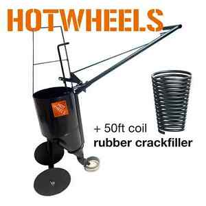 pavemade Hotwheels Combo 50ft Crackfiller Pourpot With Wheels Sealcoating