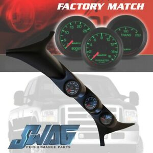 Autometer Ford Factory Matched A Pillar Gauge Set For 99 07 6 0l 7 3l 7077