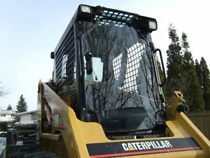 Cat 1 2 Lexan Saftey Door cab 226 248 252 257 267 277 Cat Skid Steer Cab Glass