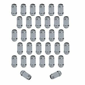 32pc Chrome Bulge Acorn Lug Nuts 14x1 5 For Chevy Gmc Hummer Trucks 2 Tall