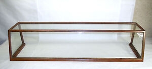 Antique General Store Copper Sheathed Wood Glass Display Case Oblong 00401010