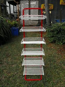 Current General Store Red Metal Display 6 White Removable Racks 00101010