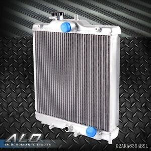 3 Row 52mm Full Aluminum Radiator For Honda Civic B18c B16a 32mm In Out