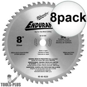 8pk 8 X 50t Circular Saw Blade Milwaukee 48 40 4520 New